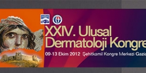 XXIV. Ulusal Dermatoloji Kongresi, Gaziantep<br>9 -13 Ekim 2012