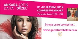 Güzellik &#038; Bakım Fuarı, Ankara<br>01 – 04 Kasım 2012