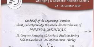 II. Antiaging &#038; Estetik Tıp Kongresi, İzmir<br>22-25 Ekim 2009