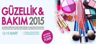 Güzellik ve Bakım 2015 Fuarı &#8211; İstanbul Kongre Merkezi<br>12-15 Mart 2015