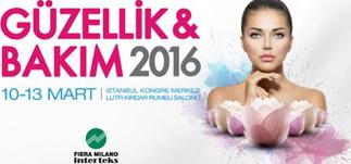 Güzellik ve Bakım Fuarı 2016 &#8211; İstanbul Kongre Merkezi<br>10-13 Mart 2016